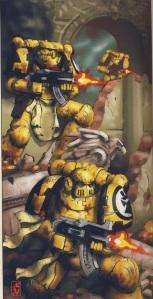Puños imperiales aguantando heroicamente