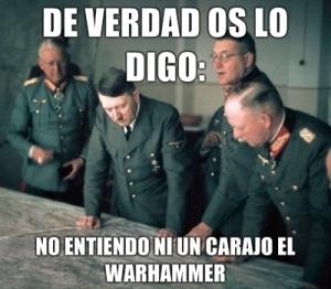 Hitler no entiende Warhammer
