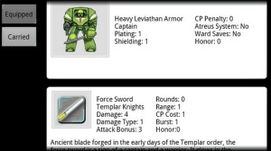 Armeria en el Templar Assault