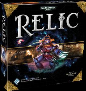 La caja del Juego Relic