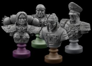 bustos de plastico de los personajes